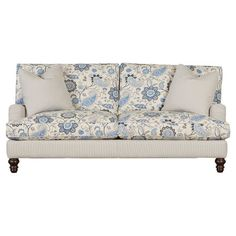 Featuring a slipcover design, Charles of London arms, and 2 oversized throw pillows, this sofa makes an elegant addition to your well-appointed home.