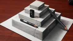 How to Make a 3D Concrete Pyramid | Anamorphic Drawing - YouTube