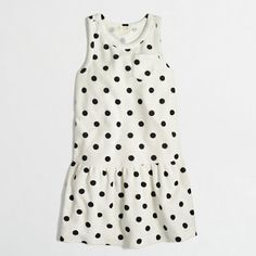 J.Crew Factory - Factory girls' terry pocket dress in polka dot