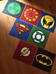 Superhero Canvas custom and handmade Super hero wall art