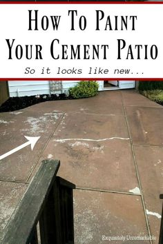 How To Restore Your Concrete Or Cement Patio so it looks like new. Give your cement patio or walkway a complete makeover with this easy DIY.
