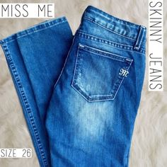 MISS ME Skinny Jeans No Embellishments Rare Size 26w, NWOT, never worn 🚫trades🚫lowballing Miss Me Pants Skinny