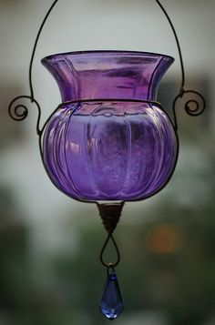 Purple Glass Lantern. Inspiration for #purple #gems So pretty