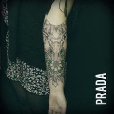 #tattoo #arm #mandala #skull #deer #ciervo #craneo #dotwork #puntillismo #dots #spider #web #tela #heart #corazon