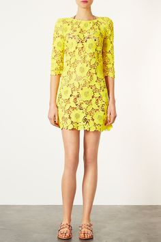 Love this yellow lace dress for spring