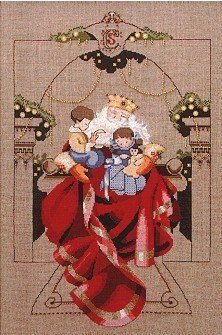 Christmas Wishes cross stitch by Mirabilia Designs using Kreinik metallic thread.