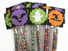 Halloween  Favors Halloween Pencil by SassyScrapsCrafts on Etsy