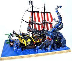 69 Lego Old Ships Ideas – How to build it Lego Pirate Ship, Lego Ship, Lego Kraken, Legos, Lego Dino, Lego Boat, Lego Animals, Amazing Lego Creations, Lego Castle
