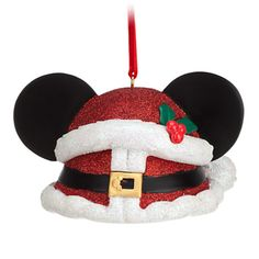 Mickey Mouse Ear Hat Ornament - Christmas