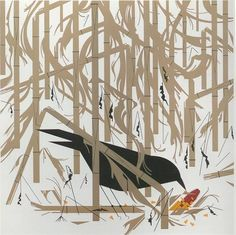 Crow in the Snow signed & numbered - Serigraph Print