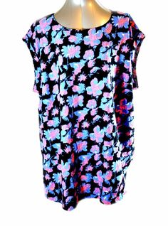 New Look Inspire Women's Tunic Dress Plus Size  26 UK /22 US Floral Tunic Dress #NewLookInspire #Tunic #Casual