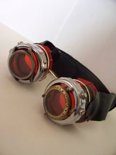 The Devils Steampunk Goggles by AtticRaiders on deviantART using watch parts