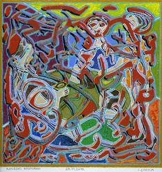 Original Interiors Painting by Ivan Lozica Canvas Paper, Oil On Canvas, Canvas Art, Original Art, Original Paintings, Chinese Restaurant, Cubism, Interior Paint, Figurative Art