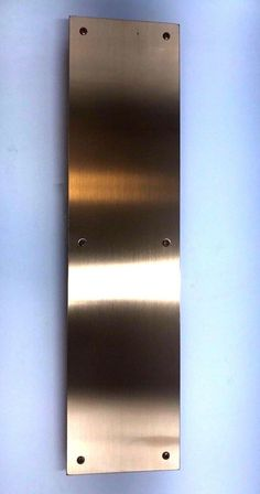 "Bronze Four Beveled Edges Push Plate Satin Bronze Finish 4"" Width x 16"" Height #DonJo"