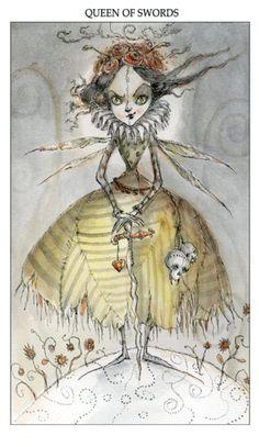 Featured Card of the Day - Queen of Swords - Joie de Vivre Tarot by Paulina Cassidy