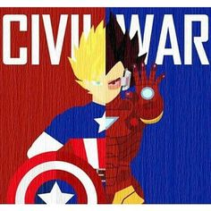 Team Goku or Team Vegeta? #captainamerica #ironman