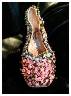 Silk Rose buds Pointe Shoe Fleur De Lisa Pointes