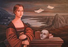 Writer. Oil on canvas . 65 x45 cm .by Javad Azarmehr.