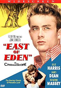 East of Eden - based on the novel by John Steinbeck, starring James Dean and Julie Harris, directed by Elia Kazan. Old Movie Posters, Classic Movie Posters, Cinema Posters, Classic Movies, Film Posters, Eden Movie, Love Movie, Movie Tv, James Dean