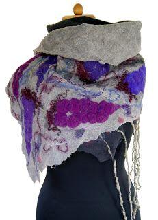 felt scarf  by  Iza Sutarzewicz