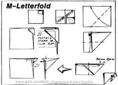 Envelope and Letterfolding: M-Letterfold Candy Letters, Letter Folding, Origami Envelope, Envelope Lettering, Book Making, Stamp, Paper, Cards, Fountain Pen