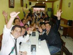 Cena después de un gran concierto en Atlixco........