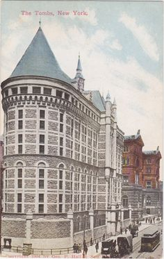The TOMBS New York Jail Vintage Postcard 1910s by AgnesOfBohemia, $4.99