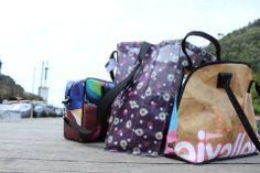 Functioneel, stijlvol en eco. Gerecyclede tassen. Backpacks, Lifestyle, Bags, Fashion, Log Projects, Templates, Style, Handbags, Moda