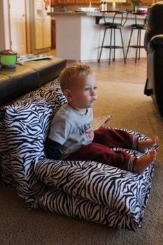 These are so easy to do with pillows and cases. They can fold into chairs, loungers, beds, or make a fort with two of them. Check out the pics on How to make a pillow chaise for children