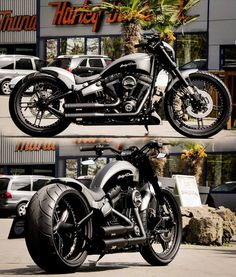 Thunderbike Torqpedo Harley-Davidson Softail Another star is born! This modernised softail can be seen everywhere, because aufgepimt became the bike with parts from our TB-R design line. The Breakout project is the 3. th of its kind, and it has also received the complete package. The tank #harleydavidsonsoftailbreakout