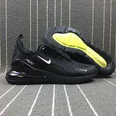 Popular Nike Air Max 270 Retro All Black Men's Sports shoes Walking AH8050-001 Black Sports Shoes, All Black Sneakers, Men's Sneakers