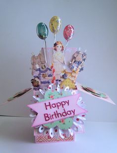 Birthday Paper Doll Box card by marianneg on Etsy