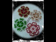 flor de pérolas tipo dupla - YouTube