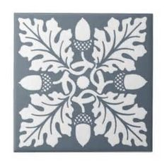 art nouveau oak leaf tile - - Yahoo Image Search Results