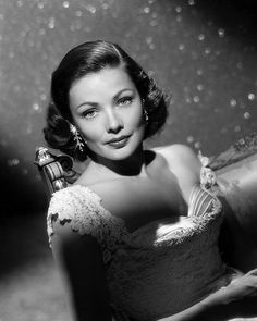 Gene Tierney- so beautiful, so talented... such a sad story of all she suffered due to her mental illness.