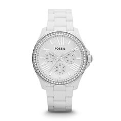 Fossil Cecile Multifunction Resin Watch - White. My next watch!