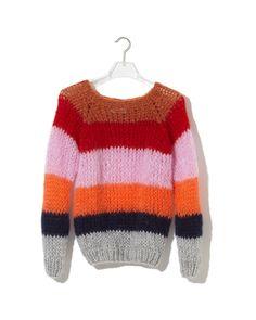 72ec335946 Maiami Striped Sweater Copper Mohair-pullover, Pullover Strickjacke,  Herrenpullover, Von Hand Stricken