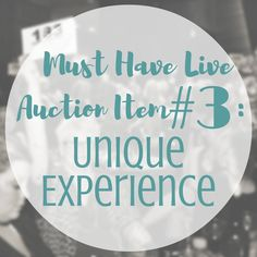 Find a Unique Experience to add to your Live Auction | SK Benefit Auctions