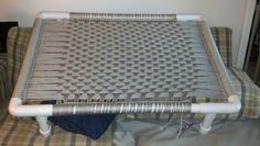 Macrame & PVC Dog Bed that I made!