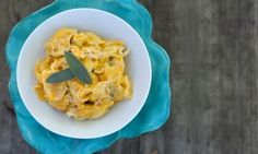 pumpkin sage cream sauce (fry sage until crispy in EVOO instead of adding butter, OK to sub 1/2 & 1/2)