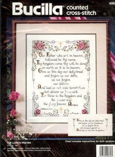 Bucilla40656 The Lord's Prayer Counted Cross Stitch Kit Bucilla http://www.amazon.com/dp/B009VFV63K/ref=cm_sw_r_pi_dp_qG2xwb01NXT9J