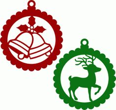 Silhouette Design Store - View Design #71248: christmas balls scallops