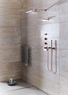 Donbracht's Mem collection in cyprum finish #luxury #bathroominspiration