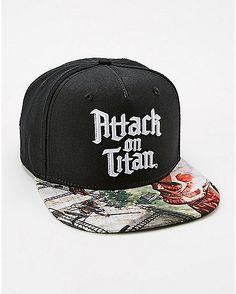 667b3e20e1f Attack on Titan Snapback Hat - Spencer s