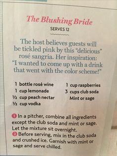 "Lauren Conrad's ""Blushing Bride"" cocktail"