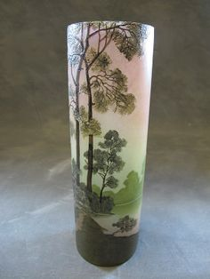 Antique French Legras glass vase