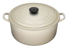 Le Creuset Enameled Cast-Iron 5-1/2-Quart Round French Oven, Dune