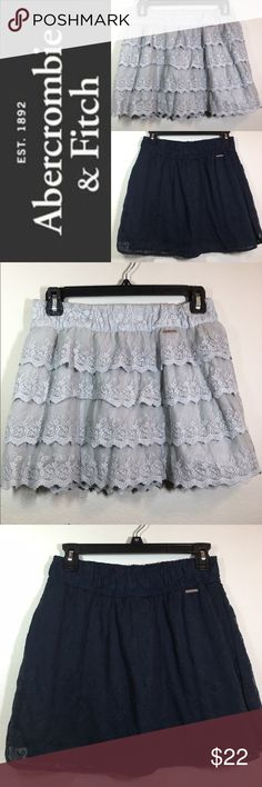 BUNDLE: ABERCROMBIE & FITCH LACE MINI SKIRTS ✔️Bundle of 2 Mini Skirts ✔️Ice Gray Tiered Mini ✔️Navy Blue Mini ✔️Both 100% Cotton ✔️No Holes, Stains or Damages Abercrombie & Fitch Skirts Mini