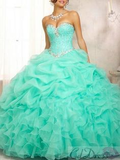 Pretty quinceanera dresses, 15 dresses, and vestidos de quinceanera. We have turquoise quinceanera dresses, pink 15 dresses, and custom quince dresses! Ball Gown Dresses, 15 Dresses, Satin Dresses, Pretty Dresses, Beautiful Dresses, Organza Dress, Aqua Dresses, Cheap Dresses, Pink Dress