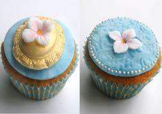 Hydrangea cupcakes!